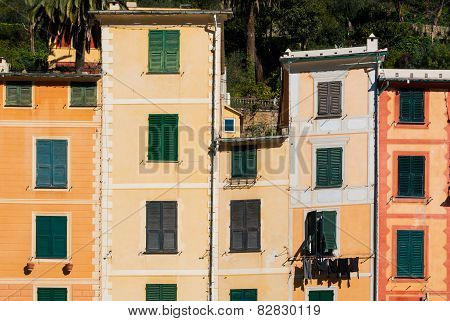 Facades On The Promenade Of Portofino
