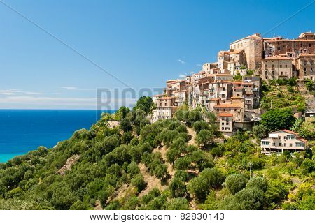 Small village on a hill