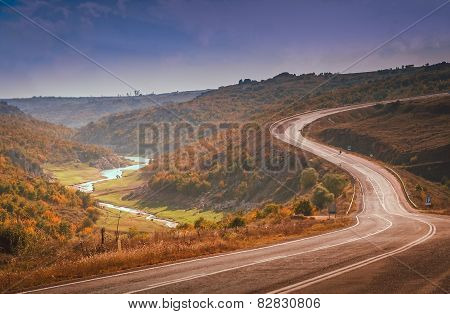 Winding road in Turkey
