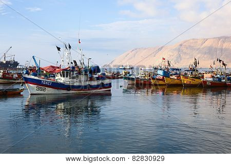 Fishing Boats in Iquique, Chile