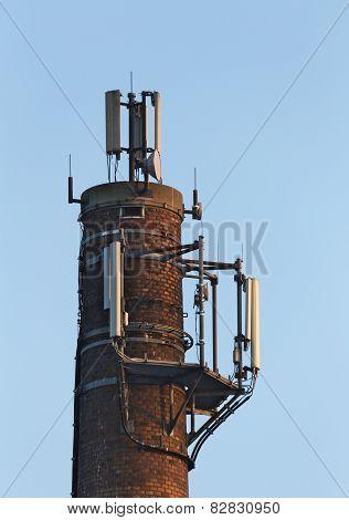 Chimney With Radio Transmitter