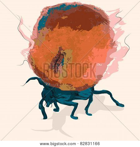 Ant With An Apple