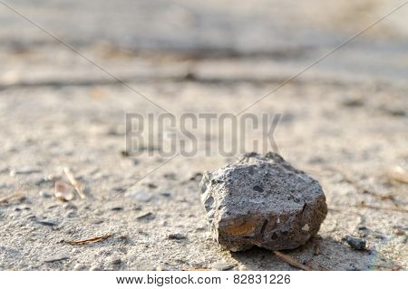 Lonely Stone On A Road