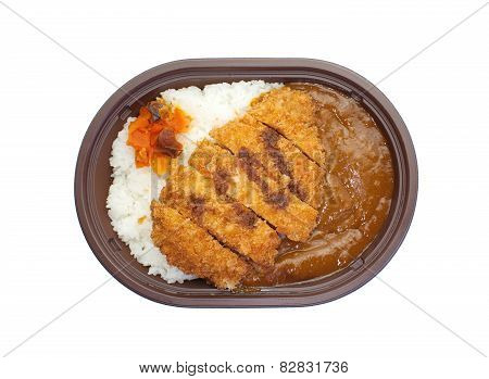 Japanese curry rice , fried pork curry rice