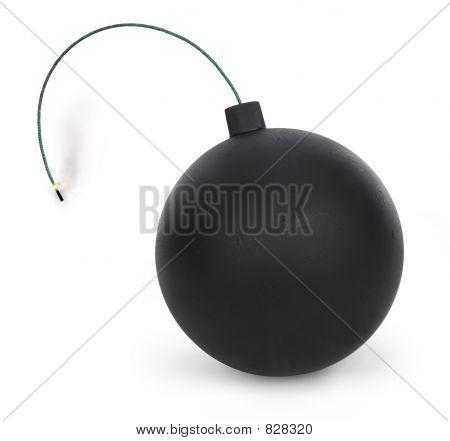 bomb on white