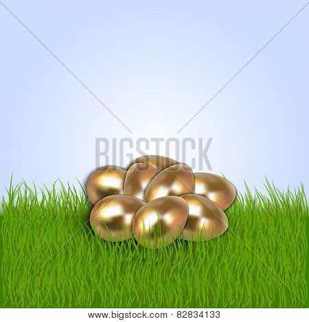 Vector illustration of Eastern eggs collection greeting card template