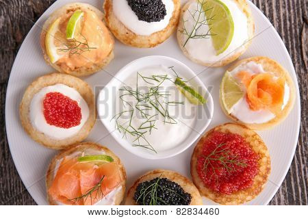 assorted of canape