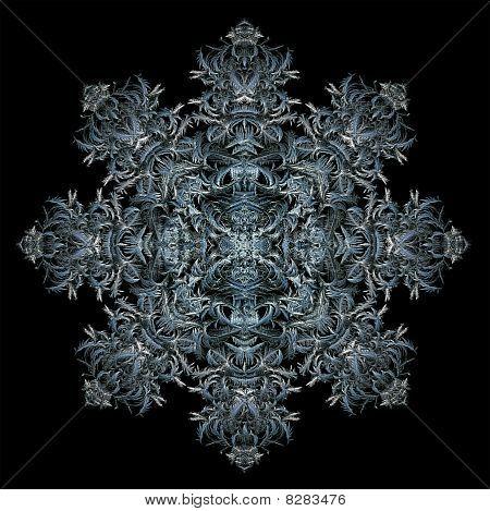 Octagonal Ice Crystal Design