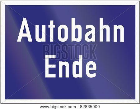 Autobahn Ende