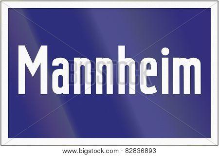 Highway Exit Mannheim