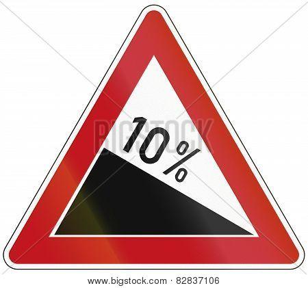 Decline 10 Percent
