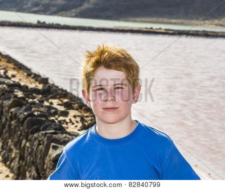 Young Boy In The Salinas De Janubio