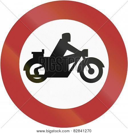 No Motorcycles 1956