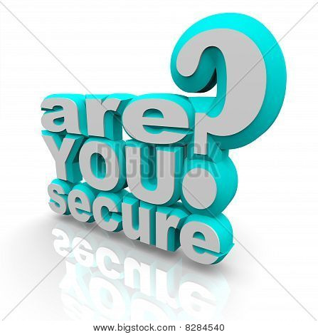 Are You Secure - 3D Words