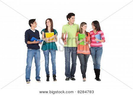Studenten zu Fuß