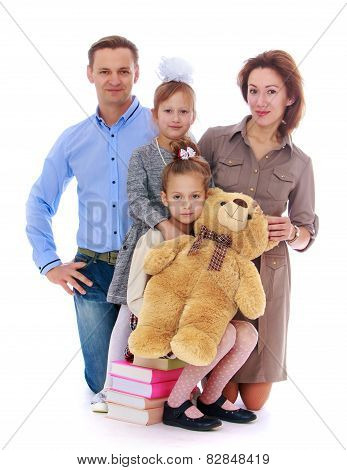 Portrait of young parents who will soon bring their children to