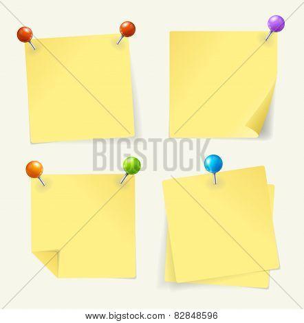 Vector pin yellow paper