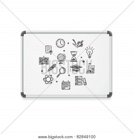 Vector whiteboard concept icon