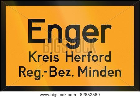 Town Sign Enger
