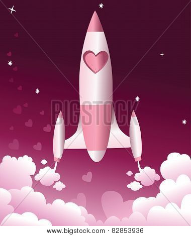 Valentine love rocket