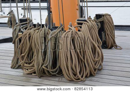 Sail ships rigging rope.