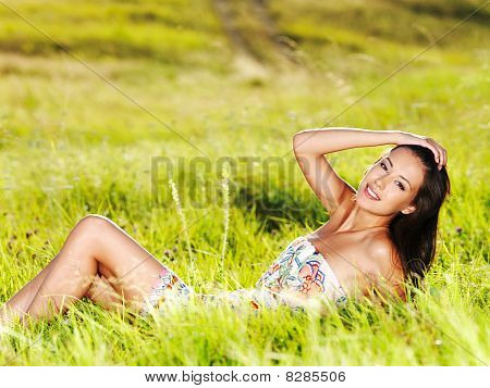 Beautiful Sexy Woman On The Nature