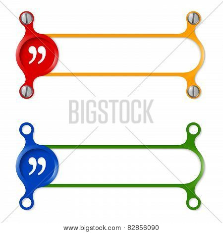 Vector Abstract Colored Frame