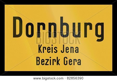 Town Sign Dornburg