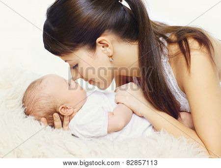 Young Mother And Infant Togetherness