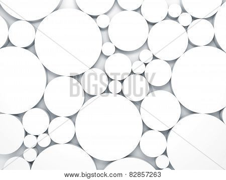 3D Background With Chaotic Size Relief Circles Pattern