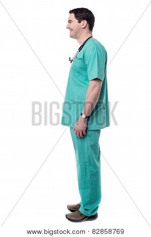 Confident Male Doctor Standing