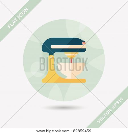 Kitchenware Electronic Beater Flat Icon With Long Shadow,eps10