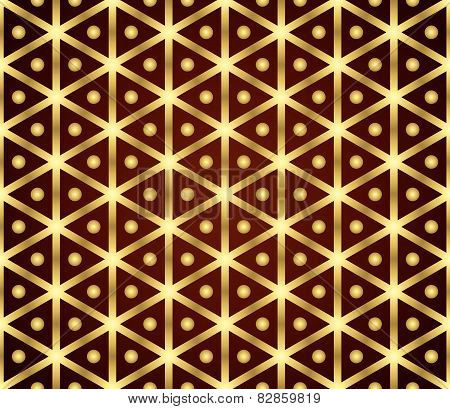 Gold Vintage Hexagon And Circle Pattern On Pastel Color