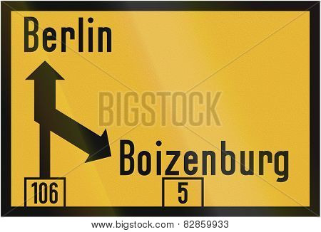 Direction Sign To Berlin