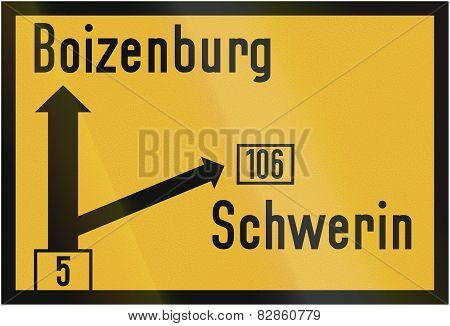 Direction Sign To Boizenburg