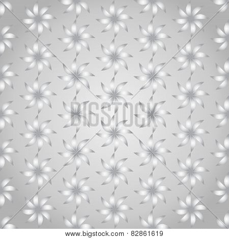 Silver Turbine Seamless Pattern On Pastel Background