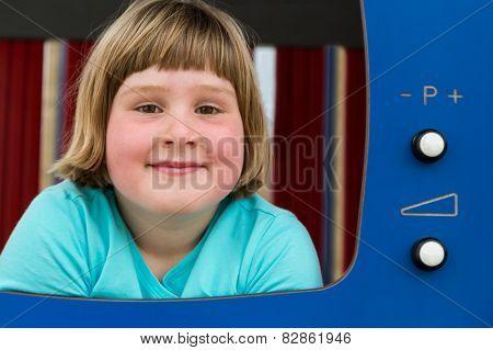 Dutch girl playing in TV