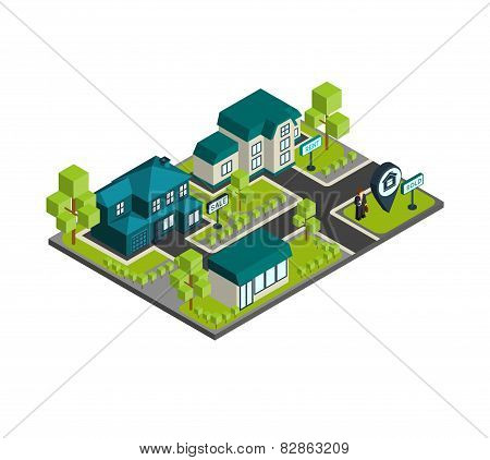 Isometric Town Concept