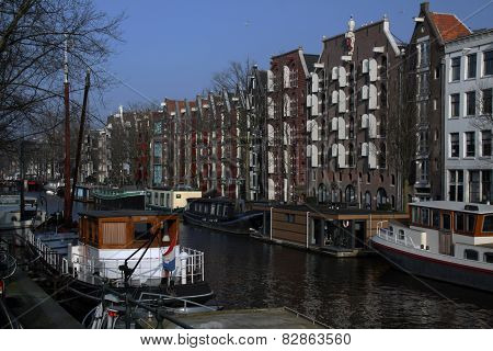 View At An Canal In Amsterdam