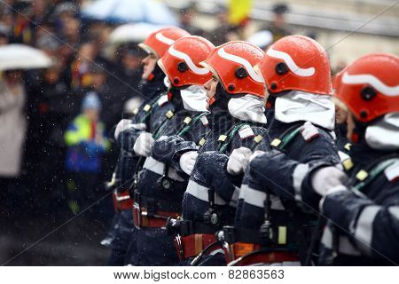 Romania National Day Firefighters