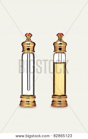 Decorative glass bottle for perfume
