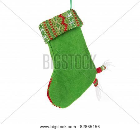 christmas green sock