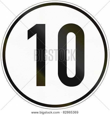 Speed Sign 10