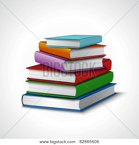 Books Stack Realistic