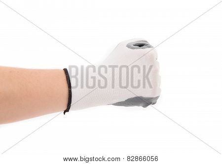 Strong male clenching fist