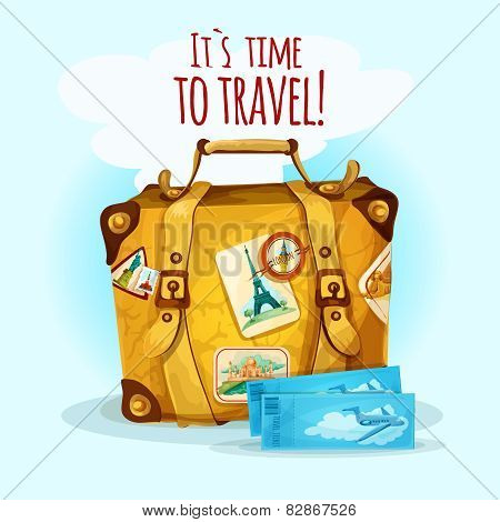 Travel Concept With Suitcase