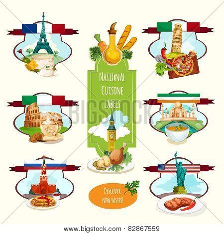 National Cuisine Labels