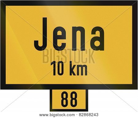 Distance Sign Jena