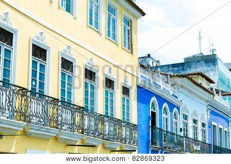 Pelourinho, the famous Historic Centre of Salvador, Bahia in Brazil.