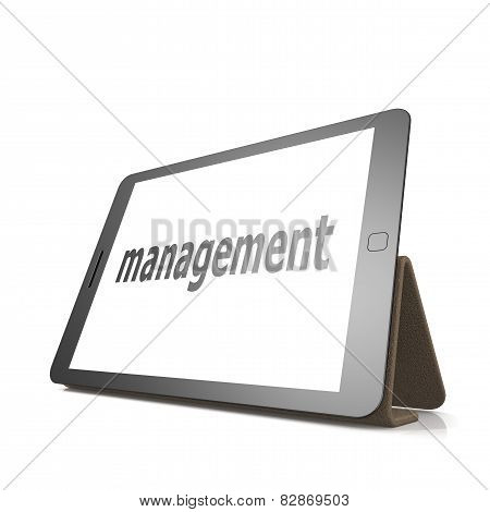 Management Word On The Tablet